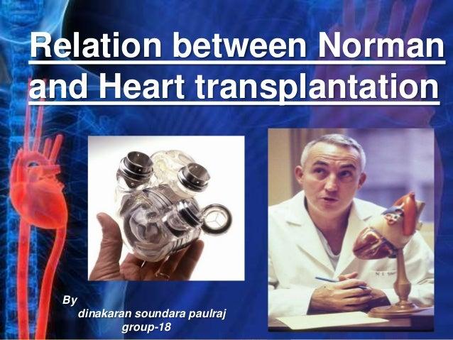 Relation between Norman and Heart transplantation By dinakaran soundara paulraj group-18