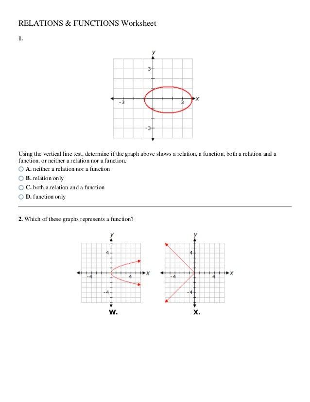 relation worksheet