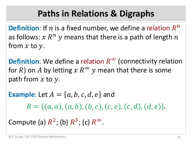 Wonderful ... 18. Paths In Relations U0026 Digraphs Definition: ...