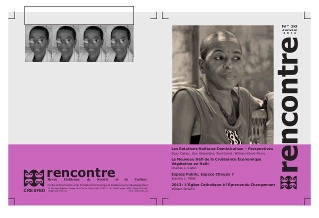rencontreRevue Haïtienne de Société et de Culture Centre de Recherche et de Formation Économique et Sociale pour le Dévelo...