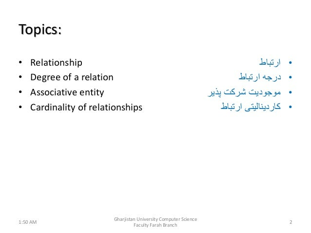 Relationship in database