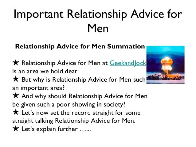 advice for guys