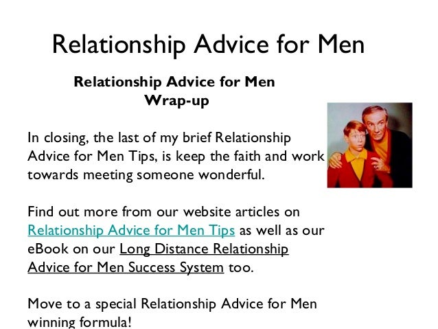 Relationship advice for men chat