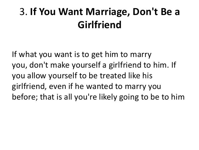 tell him what you want in a relationship