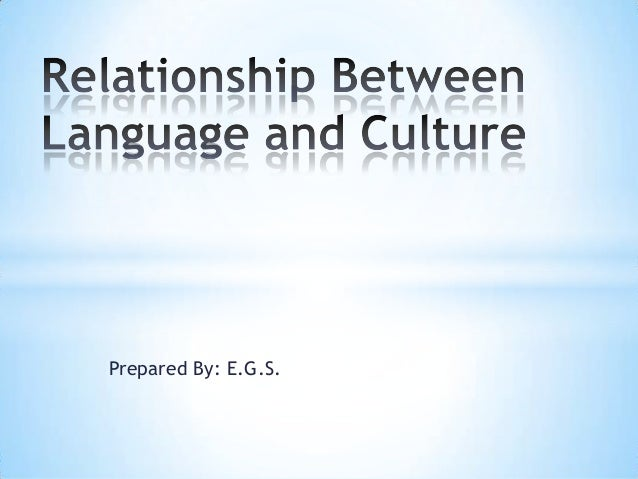 language and culture relationship ppts