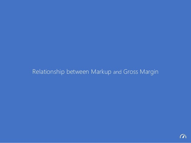 Relationship between Markup and Gross Margin