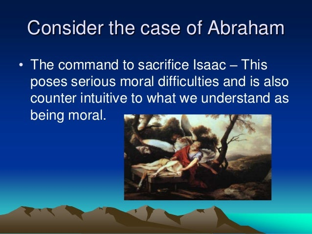 morality and sacrifice Sacrifice and sexual ethics we should not expect to escape the necessity of such sacrifice christ taught that the moral life involves imitating his passion.