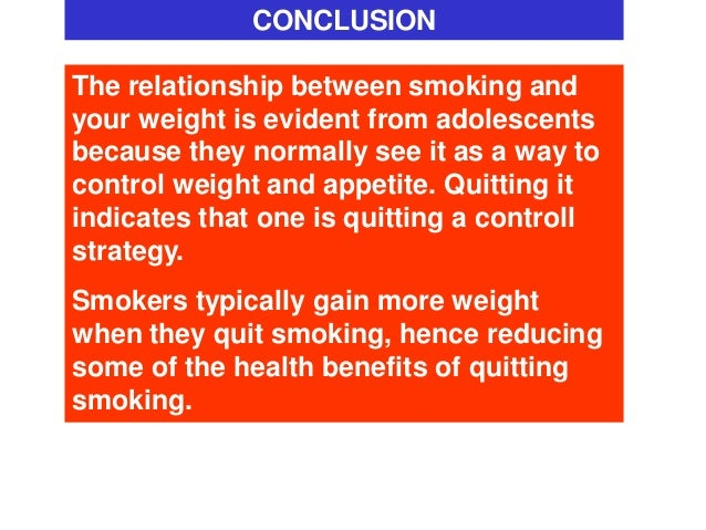 relationship between smoking and weight