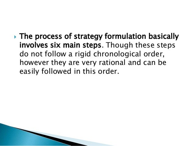 relationship between formulation and implementation of strategies