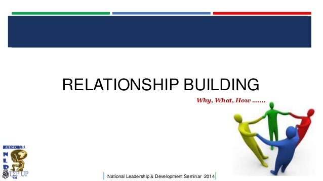 CLICK TO EDIT MASTER TITLE STYLE  RELATIONSHIP BUILDING Why, What, How …….  |  National Leadership & Development Seminar 2...