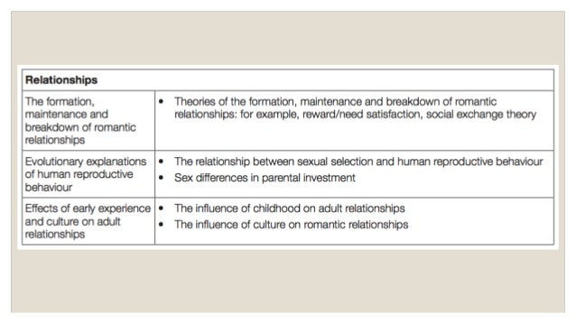 the formation of romantic relationships