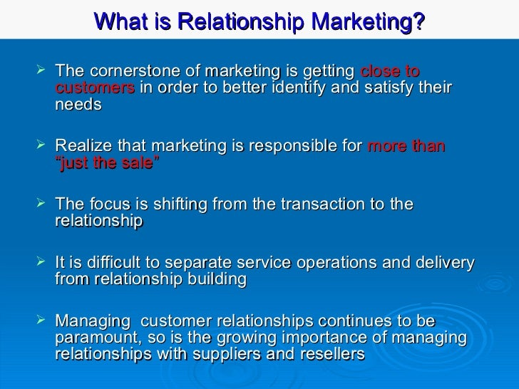 bennett 1996 relationship marketing and customer