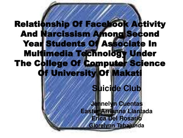 Relationship Of Facebook Activity And Narcissism Among Second Year Students Of Associate In Multimedia Technology Under Th...