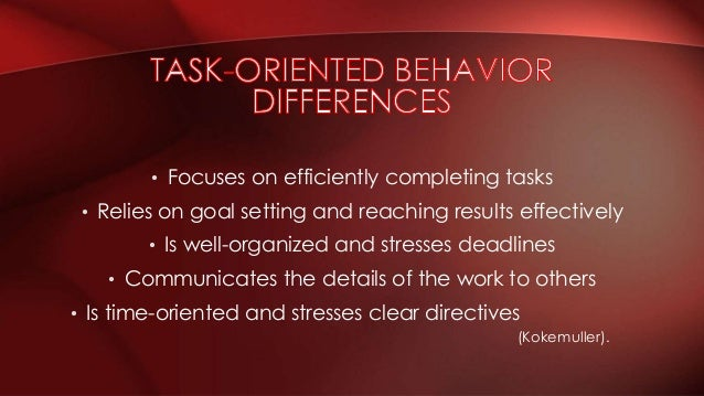 task oriented leadership and relationship vs