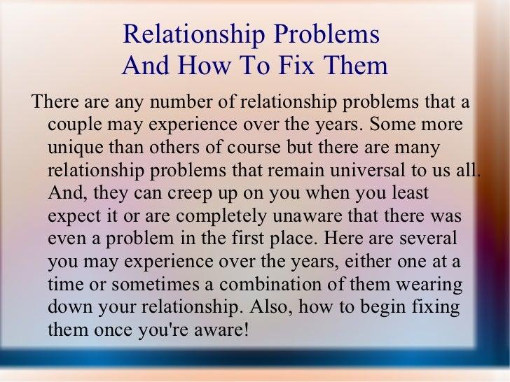 A Fix Do How Relationship You