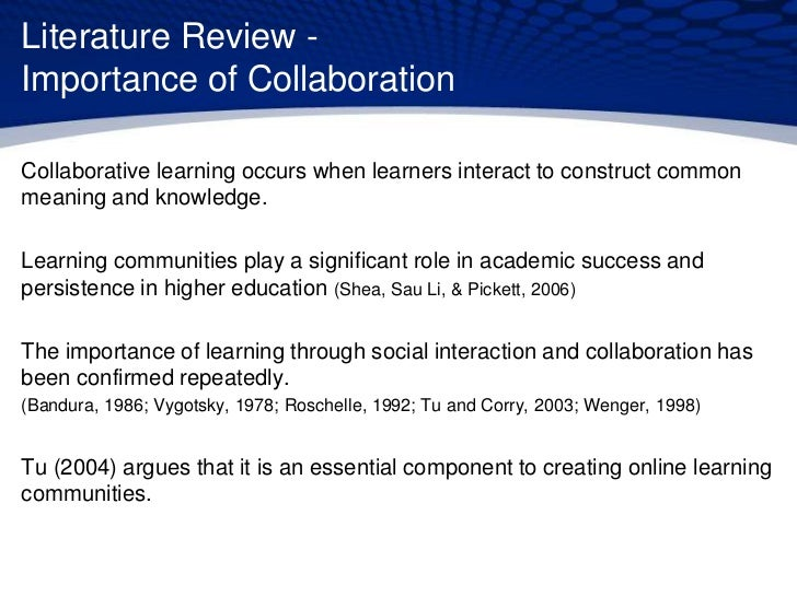 the importance of collaborative learning to students Riculum, pedagogy, student management, and student-centered instruction, as well as differences in ability to reflect on and adapt instruction implications for improving professional collaboration in.