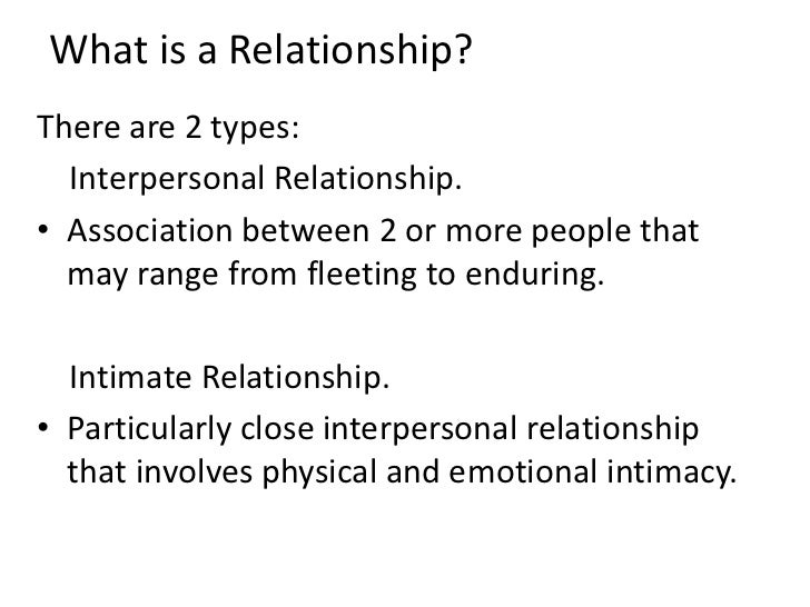 what is a relationship