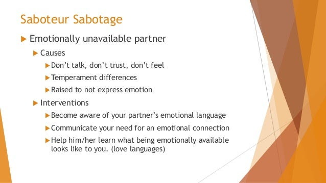 what causes emotional unavailability
