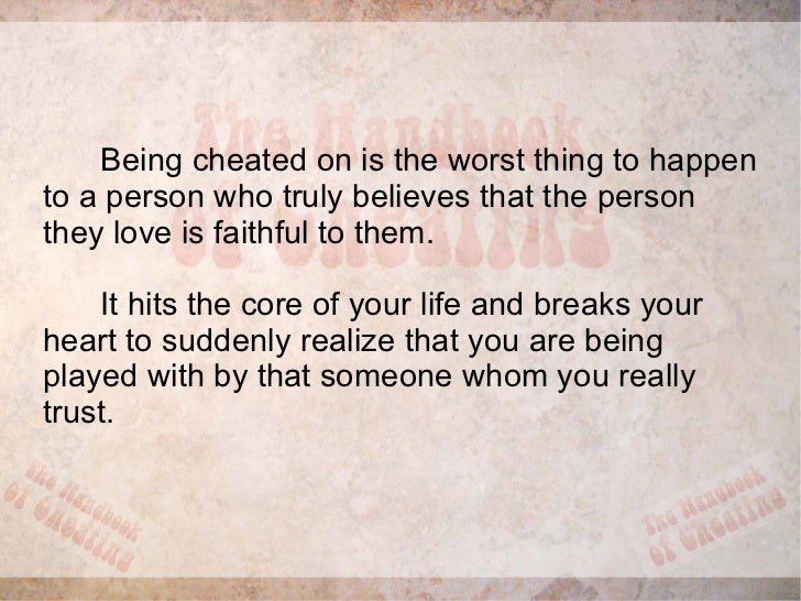 advice for a friend who got cheated on