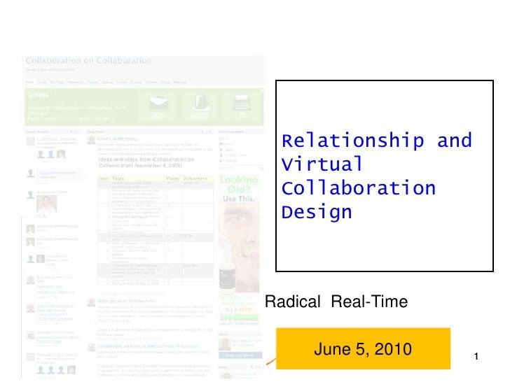 1<br />Relationship and Virtual Collaboration Design<br />Radical  Real-Time<br />June 5, 2010<br />1<br />1<br />
