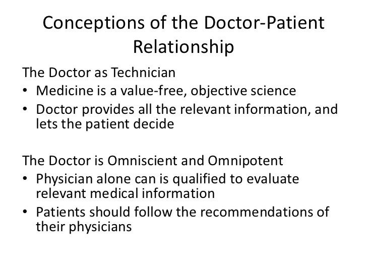 Doctor romantic relationship with patient