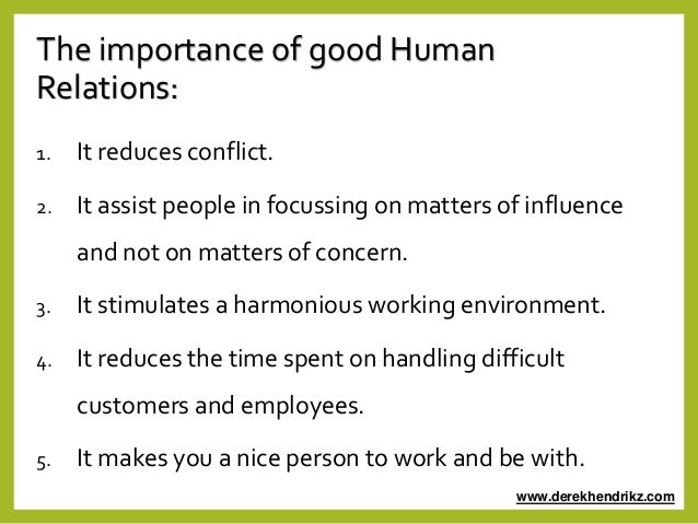 the necessity of human relationships 41 interpersonal relationships it underlines the importance of human relationships to our work and if human relationships play such an important role at work.
