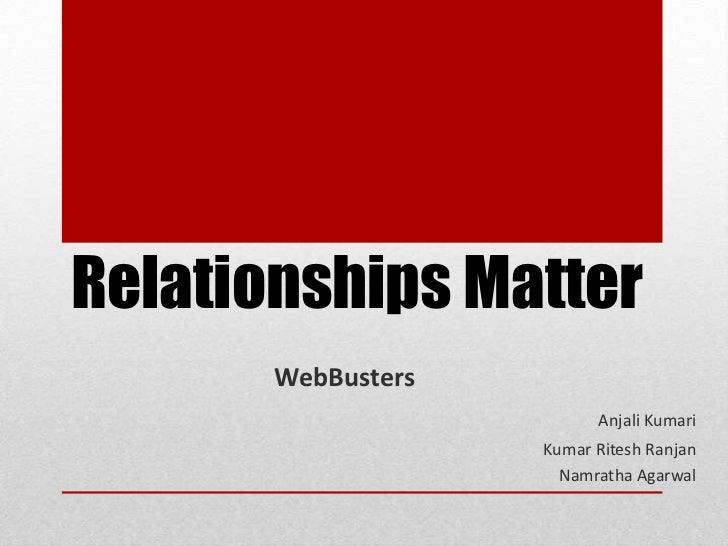Relationships Matter       WebBusters                          Anjali Kumari                    Kumar Ritesh Ranjan       ...