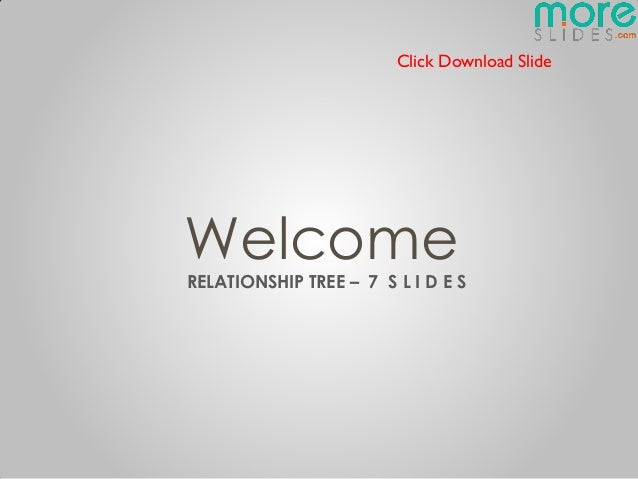 Click Download SlideWelcomeRELATIONSHIP TREE – 7 S L I D E S