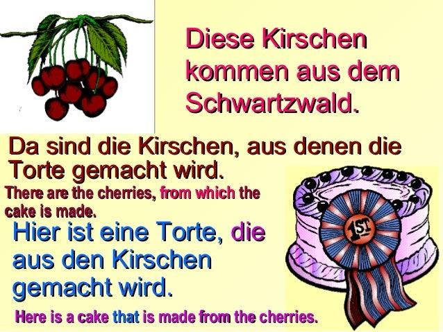 Der Garten in dem die Der Garten, grünen Erbsen wachsen, ist klein klein.  Die Trauben, , aus denen der aus denen der Wein...