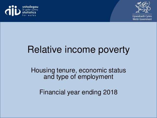 Relative income poverty Housing tenure, economic status and type of employment Financial year ending 2018