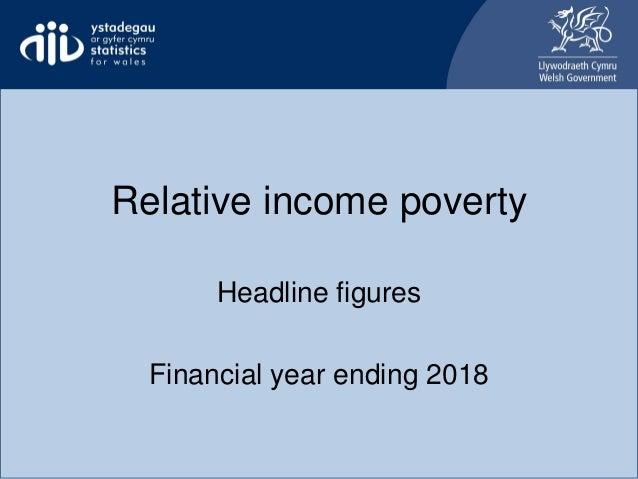 Relative income poverty Headline figures Financial year ending 2018