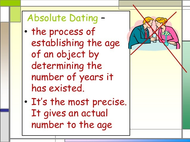 describe absolute dating and relative