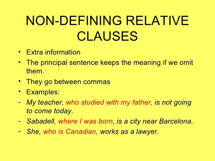 Formal and informal relative clauses