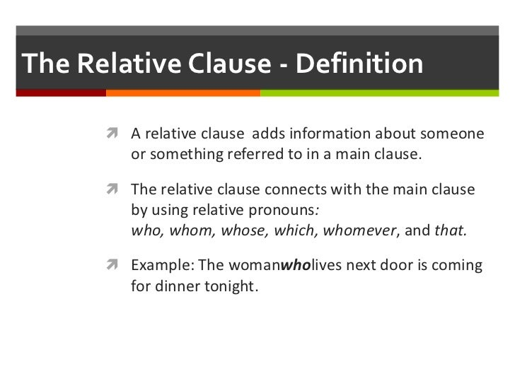 x relative clause I'm kind of confused by relative and appositive clauses firstly, as far as i understand relative and attributive clause is the same thing, isn't it.