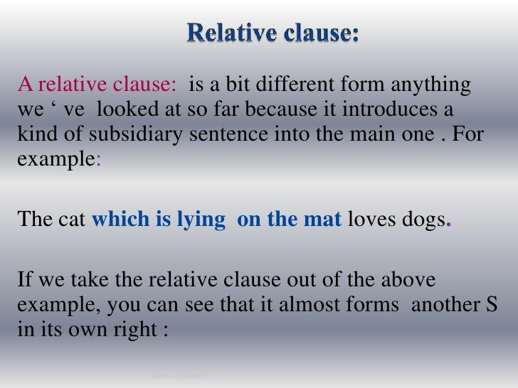 Relative clauses presented by rawia aljehani relative clausebr a relative clause is a bit different form ccuart Gallery