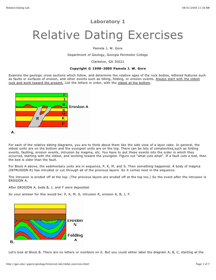 relative dating methods rely on