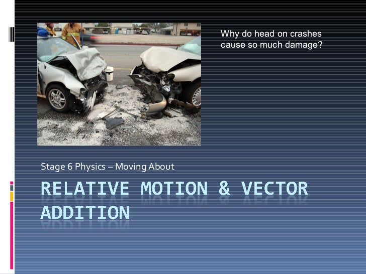 Stage 6 Physics – Moving About Why do head on crashes cause so much damage?