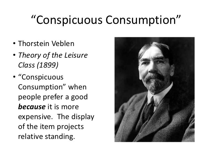 conspicuous consumption and consumer society