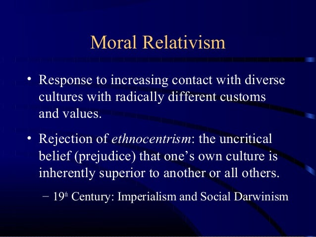 Cultural Relativism and Ethical Subjectivism - Essay Example
