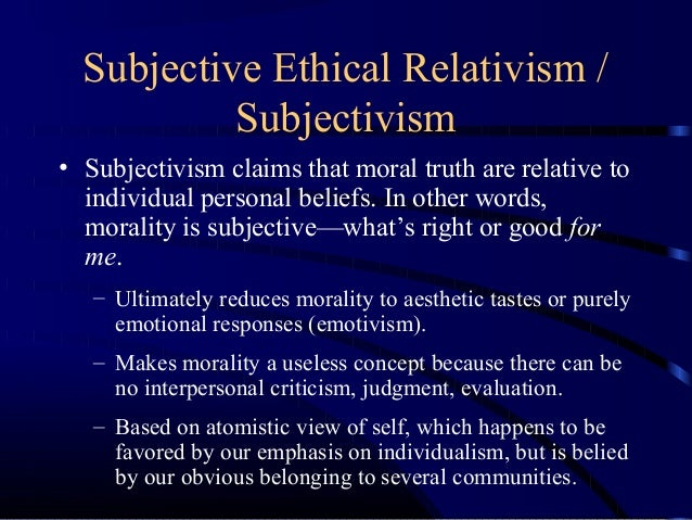 dependency thesis ethical relativism