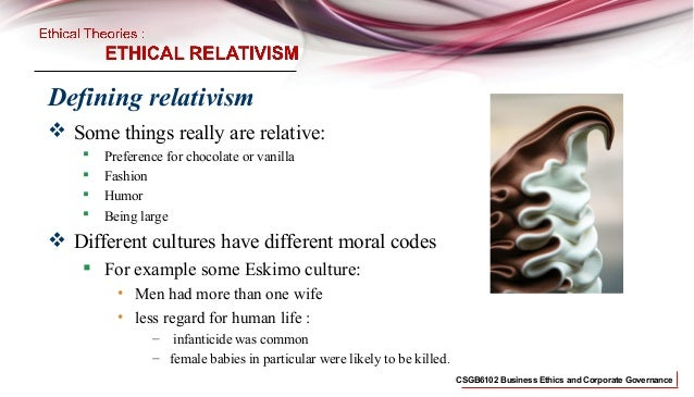 business ethics,Relativism