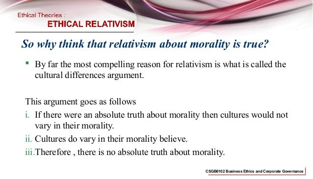 absolute and relative ethics commerce essay Answer to write an essay (or discuss) whether ethics and morals are relative or absolute are there absolute moral truths, or is.