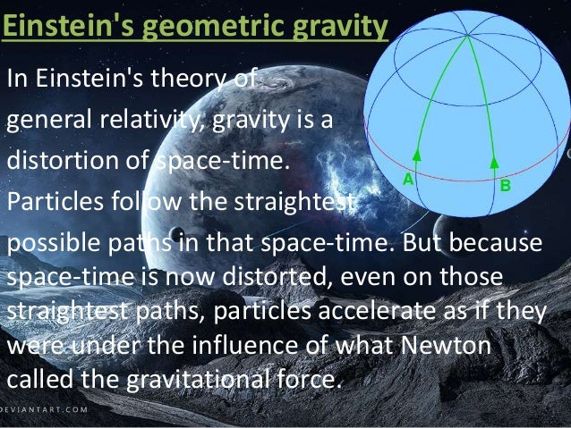 a discussion of gravitational interactions in the earth and einsteins theory of relativity Is the distance between the centres of the earth and the sun, and $m_1$   according to newton's theory, gravitational interaction is instantaneous   einstein's theory of general relativity doesn't really look at gravity as a force   though it is being discussed for 100 years since the era of henri poincare,.