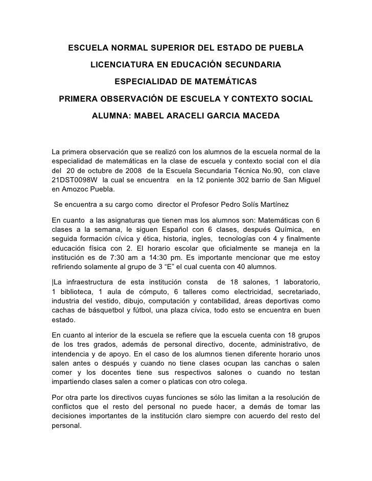 ESCUELA NORMAL SUPERIOR DEL ESTADO DE PUEBLA             LICENCIATURA EN EDUCACIÓN SECUNDARIA                     ESPECIAL...