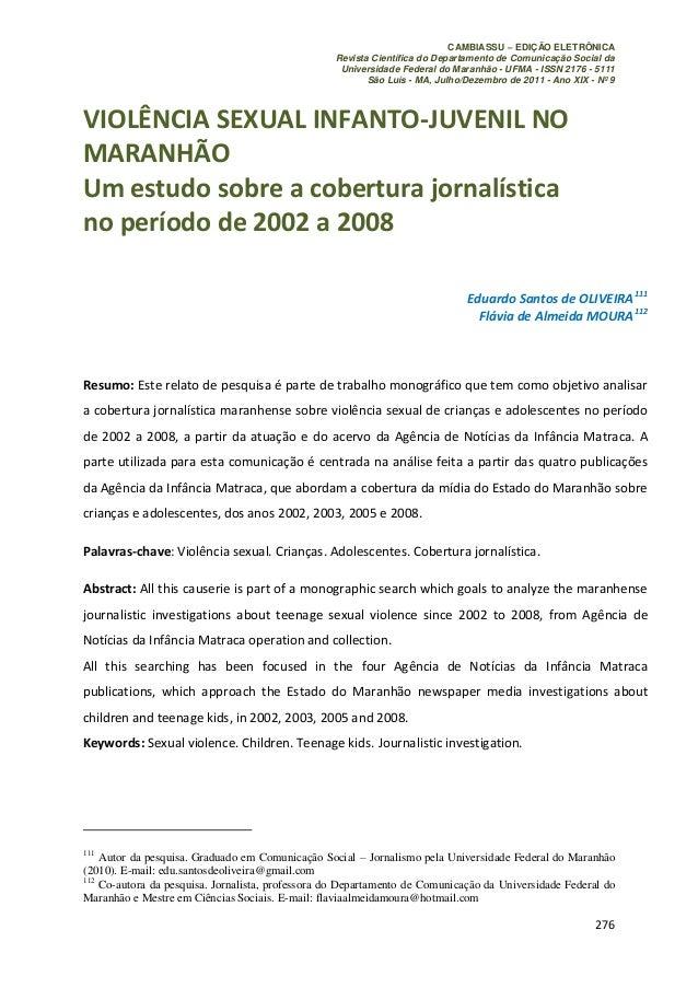 CAMBIASSU – EDIÇÃO ELETRÔNICA                                                  Revista Científica do Departamento de Comun...