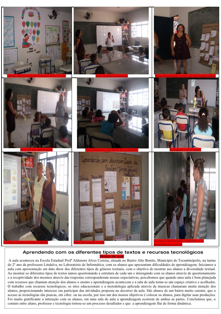 Sala de aula Escola Profª Aldenora Alves Correia                     Início da aula apresentação          Penha apresentan...