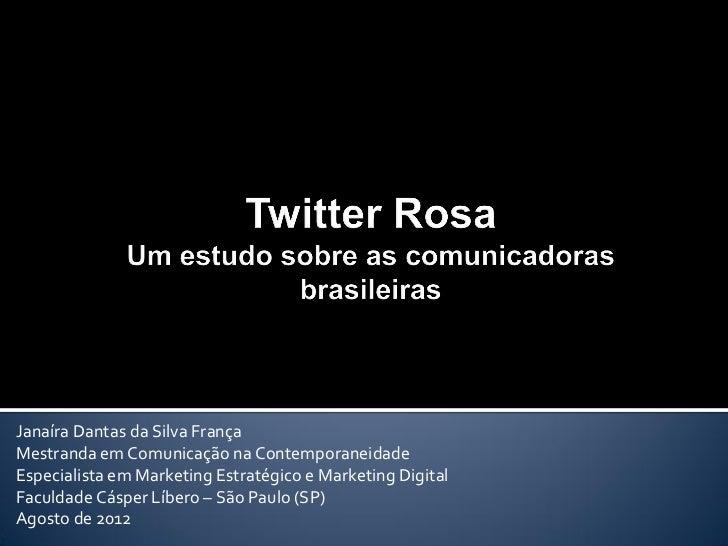 Janaíra Dantas da Silva FrançaMestranda em Comunicação na ContemporaneidadeEspecialista em Marketing Estratégico e Marketi...
