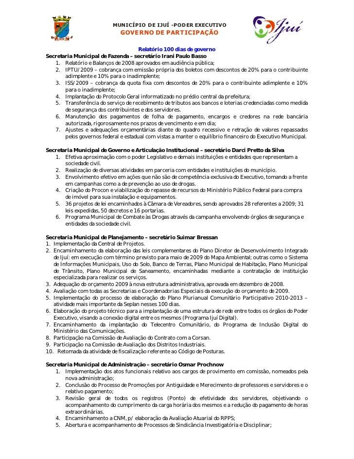MUNICÍPIO DE IJUÍ -PODER EXECUTIVO                               GOVERNO DE PARTICIPAÇÃO                                  ...