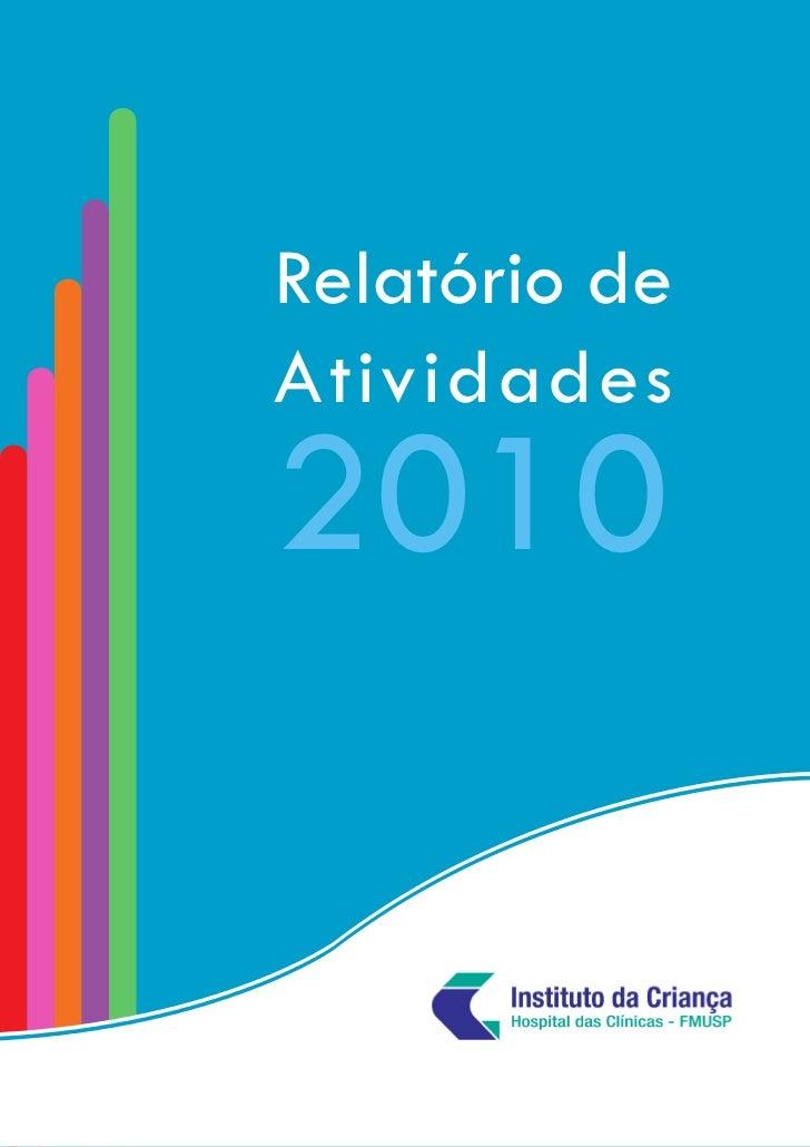 Relatório deAtividades2010