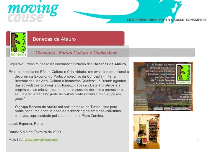 Bonecas de Ataúro                Concepta | Fórum Cultura e CriatividadeObjectivo: Primeiro passo na internacionalização d...